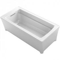 Archer 5.6 ft. Reversible Drain Bathtub in White