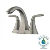 Pasadena 4 in. Centerset 2-Handle High-Arc Bathroom Faucet in Slate