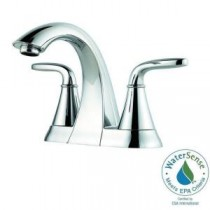 Pasadena 4 in. Centerset 2-Handle High-Arc Bathroom Faucet in Polished Chrome