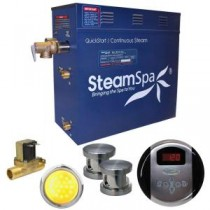 Indulgence 12kW QuickStart Steam Bath Generator Package with Built-In Auto Drain in Brushed Nickel