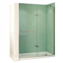 Reveal 32 in. x 60 in. x 74-1/2 in. Shower Stall in White