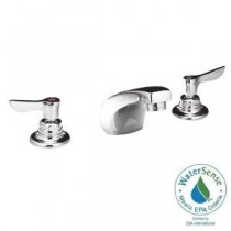 Monterrey 8 in. Widespread 2-Handle Low-Arc Bathroom Faucet in Polished Chrome with Grid Drain