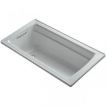 Archer 5 ft. Reversible Drain Acrylic Soaking Tub in Ice Grey