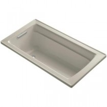 Archer 5 ft. Reversible Drain Acrylic Soaking Tub in Sandbar