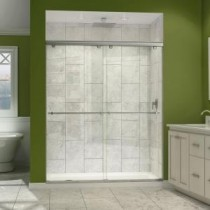 Charisma 56 to 60 in. x 76 in. Semi-Framed Sliding Shower Door in Chrome