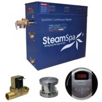 Oasis 6kW QuickStart Steam Bath Generator Package with Built-In Auto Drain in Brushed Nickel