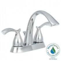 Edgewood 4 in. Centerset 2-Handle High-Arc Bathroom Faucet in Chrome