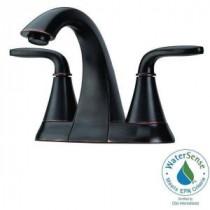 Pasadena 4 in. Centerset 2-Handle High-Arc Bathroom Faucet in Tuscan Bronze