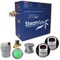 Royal 4.5kW QuickStart Steam Bath Generator Package with Built-In Auto Drain in Polished Chrome