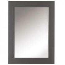Sonoma 30 in. L x 22 in. W Framed Wall Mirror in Dark Charcoal