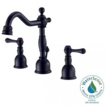 Opulence 4 in. Minispread 2-Handle High-Arc Bathroom Faucet in Satin Black (DISCONTINUED)