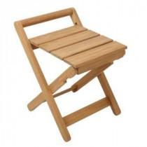 Folding Teak Shower Seat in Wood