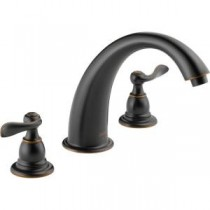 Windemere 2-Handle Deck-Mount Roman Tub Faucet Trim Kit Only in Oil-Rubbed Bronze (Valve Not Included)
