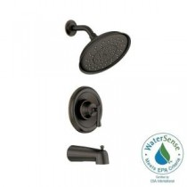 Ashville Single-Handle 1-Spray Tub and Shower Faucet in Mediterranean Bronze