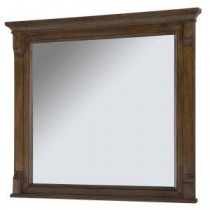 Creedmoor 36 in. W x 32 in. L Single Wall Hung Mirror in Walnut