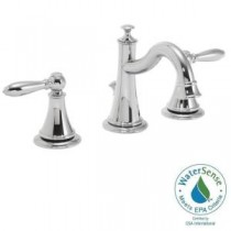 Alexandria 8 in. Widespread 2-Handle Bathroom Faucet with Pop-Up Drain in Polished Chrome